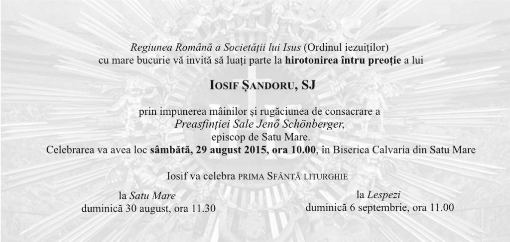 Invitatie Iosif