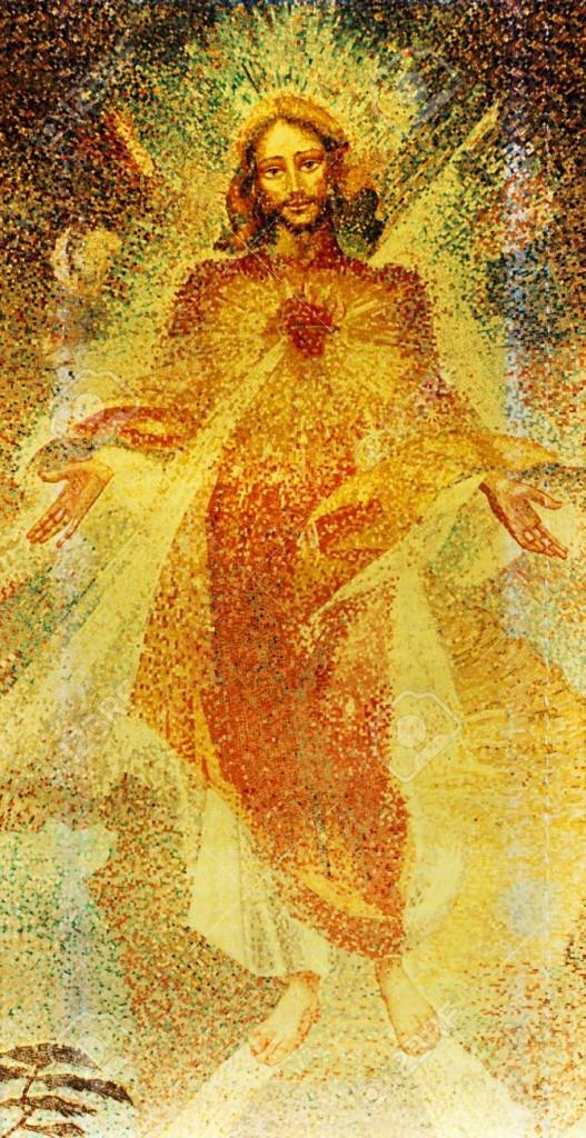 14127472-Vetrata-del-Sacro-Cuore-di-Ges--Archivio-Fotografico